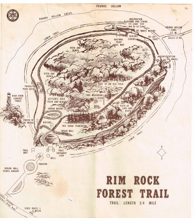 Rim Rock's Dogwood Cabins: old pamphlet of Rim Rock's (across the street)