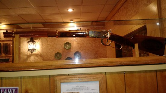 Mehlman's Cafeteria: An old rifle hanging in the entryway as you come in.