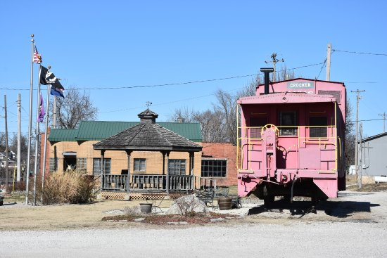 Frisco Railroad Caboose in Crocker, Missouri