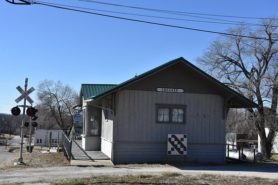 Frisco Depot Museum in Crocker, Missouri.
