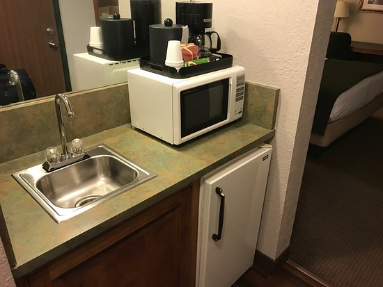 Redwood Falls, MN: mini fridge, microwave, and coffee maker