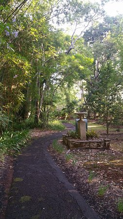 North Tamborine, ออสเตรเลีย: Cottages to the left behind the gardens for privacy and quietness