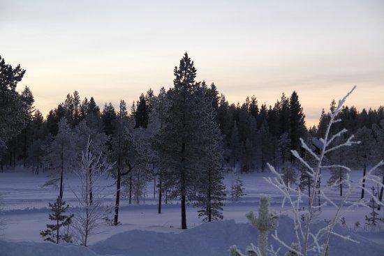 Salla, Finland: la vue si exposition sud