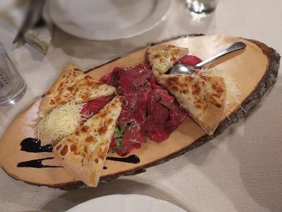 Domzale, Slovenia: beef carpacio