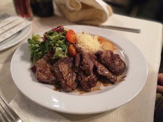 Domzale, Slovenia: beef tagliatta na salad and aged balsamic vinegar