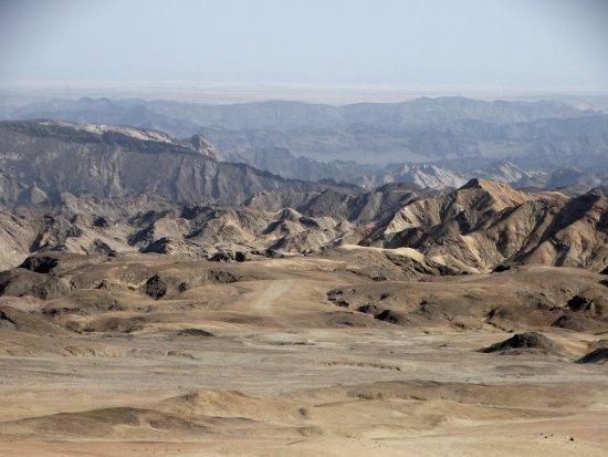 Erongo région, Namibie : Vue depuis l'arrêt recommandé