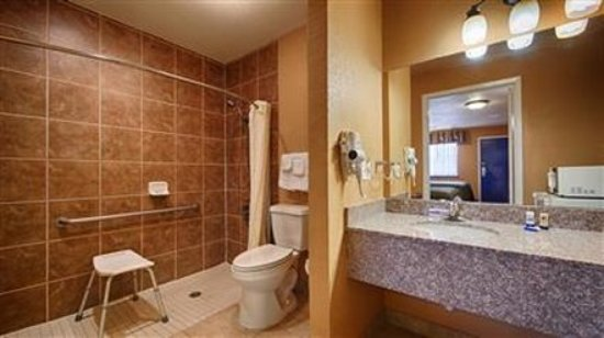 Burnet, TX: [ ]Roll In Shower Accessible Room Bathroom