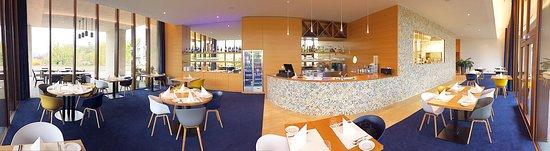 Schengen, Luxemburg: Vue panoramique du restaurant