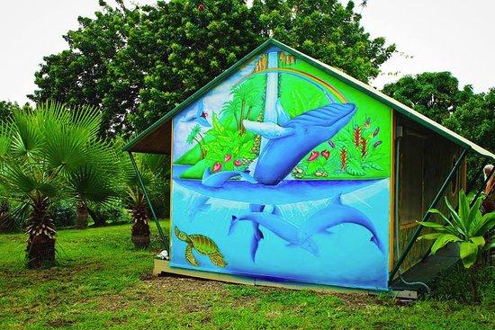 Banyan Tree Sanctuary: Original airbrush mural
