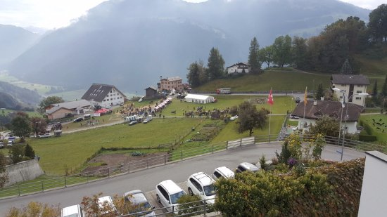 Hotel Scesaplana: View from the hotel carpark