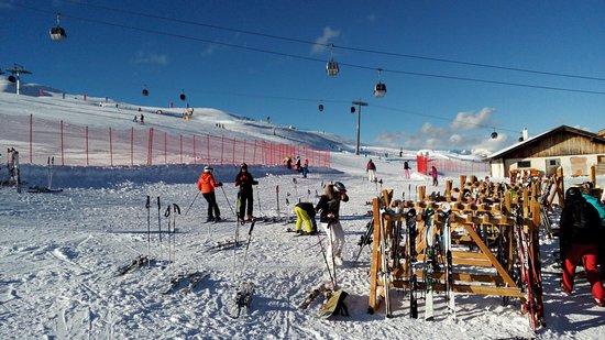 Brunico, Italy: Kronplatz - Olang lift from Geiselberghütte