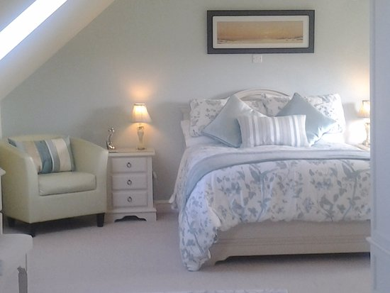 Dinas, UK : Luxurious room with en-suite bathroom and large shower area.