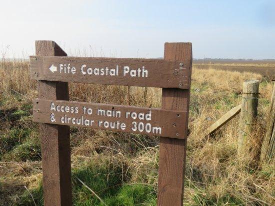 Ardross Castle: coastal path sign