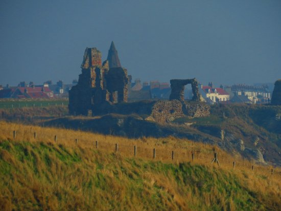 Ardross Castle: Newark Castle in the distance about a mile away