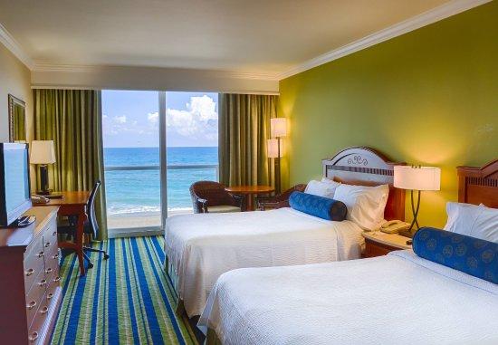 Jensen Beach, Флорида: Double/Double Oceanfront Guest Room