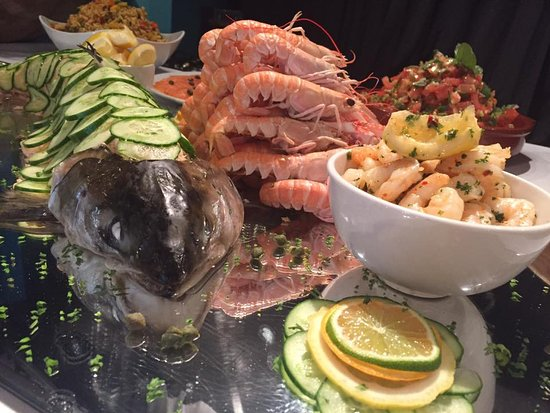 The Brick Oven: Seafood Buffet - Whole Dressed Salmon