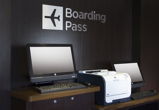 Folsom, CA: Boarding Pass Print Station