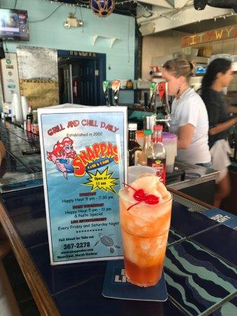 Marsh Harbour, Great Abaco Island: Frozen rum punch - Yum!