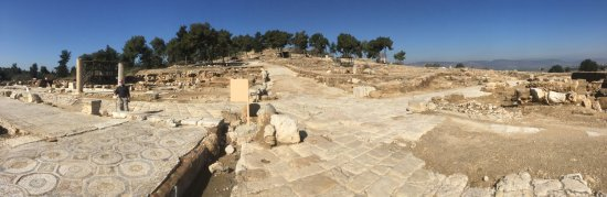 Zippori, Izrael: Looking at some of the amazing mosaics that are everywhere.