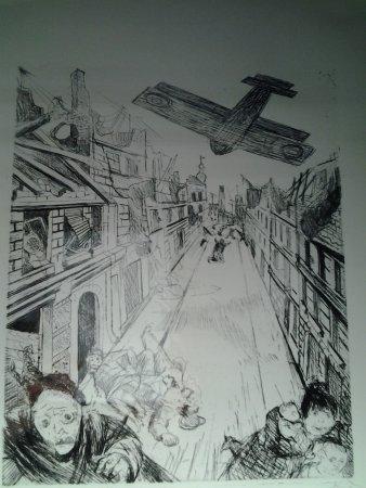Peronne, Francia: eau-forte de Otto Dix (bombardement de Lens)