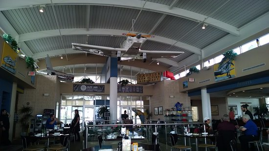 The Hangar Restaurant & Flight Lounge: The Hangar diner rear view