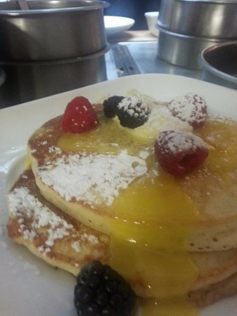 Rockwall, TX: buttermilk pancakes with fresh lemon curd