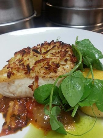 Rockwall, TX: pan roasted Chilean Sea Bass