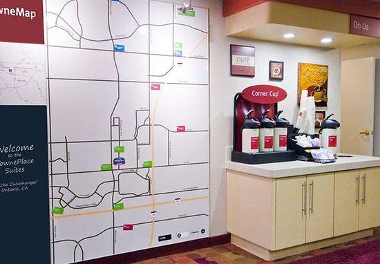 Rancho Cucamonga, Califórnia: Coffee Bar & TowneMap