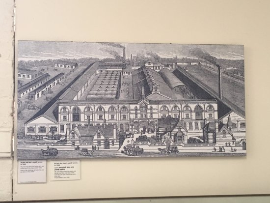 Ragged School Museum : A lovely drawing of the matchstick factory.