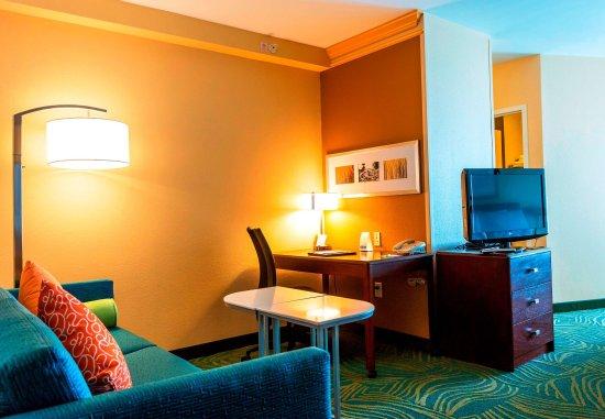 Devens, MA: Suite Living Area & Work Desk