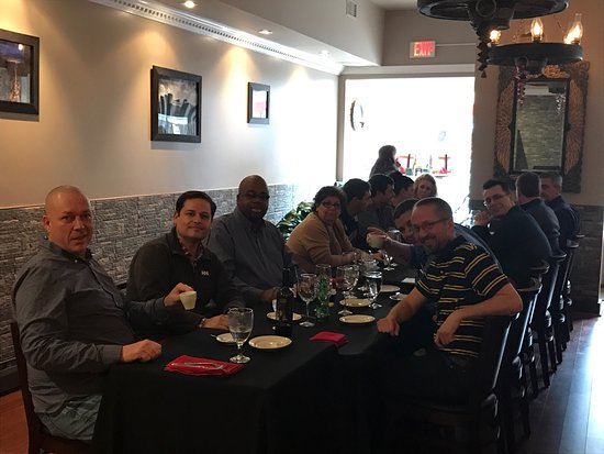 Newtown, PA: Great lunch today at Boccaccio we hosted people from 15 different country with great success 👍