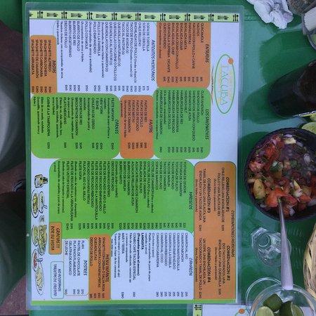 Victor's Place Cafe Tacuba: Victor's Menu