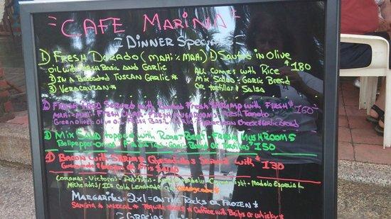 cafe marina : Menu