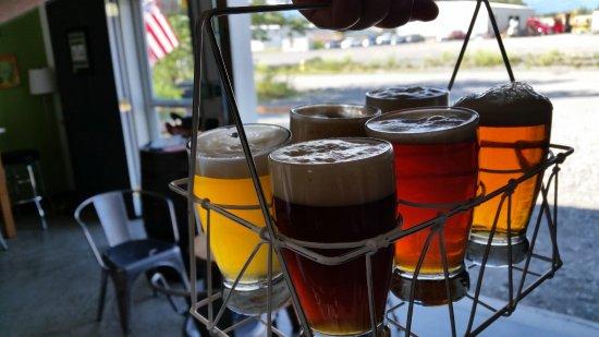 Palmer, AK: Beer tasters at Arkose Brewery
