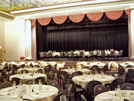 Minden, NE: Theatre set for a wedding reception