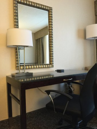 Carle Place, NY: Work comfortably from your room, and enjoy extra plug-in ports!