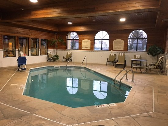 Oswego, IL: Don't forget to enjoy a relaxing dip in our pool during your visit
