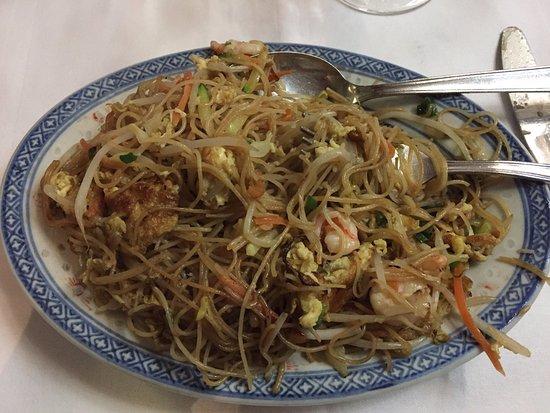 Ristorante Cinese Oriente: Spaghetti di riso con gamberi