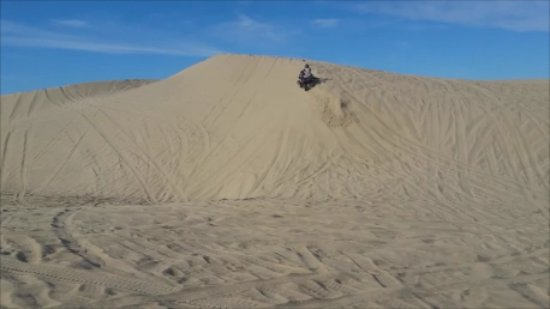 Oceano, CA: Carving the dunes is fun when it isn't choppy.