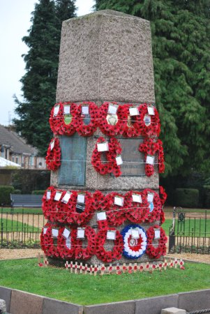 Desborough, UK: Photograph taken on the afternoon of Remembrance Sunday