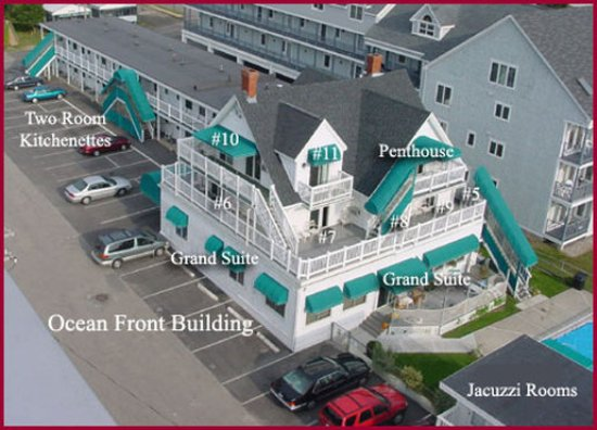 Sea Cliff House Motel: Mainbuildingnumbered