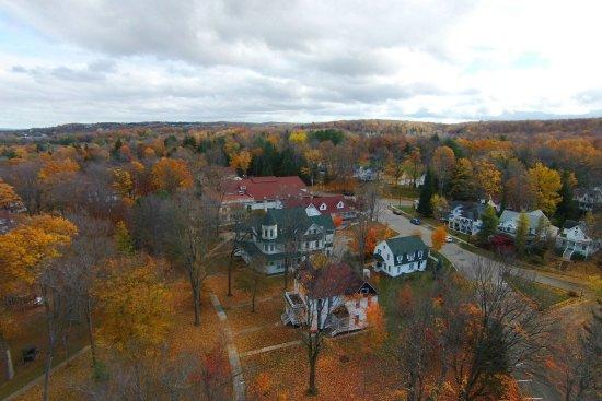 Petoskey, MI: Aerial View in Fall