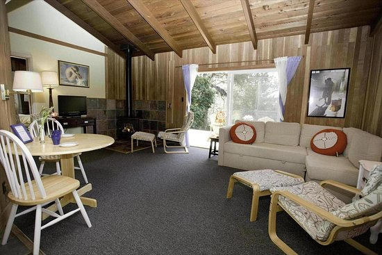Little River, CA: Complete Cabins feature fireplaces