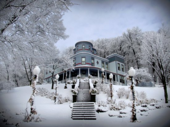 """Bellevue, IA: Winter at """"The Mont"""""""
