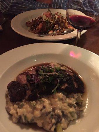 Beacon, NY: Duck over risotto