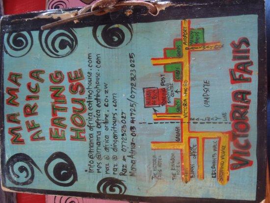Mama Africa Eating House: menu