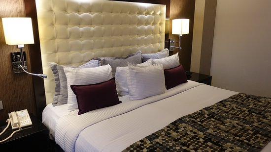 Hotel Lucerna Tijuana: The king-bedded room is spacious and comfortable.