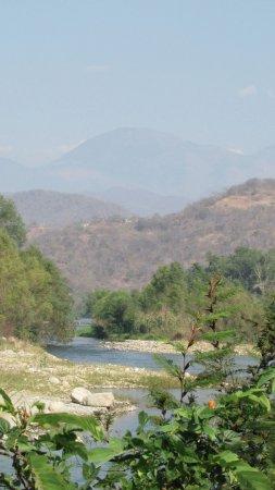 Playa La Bocana: path along the river beautiful view .