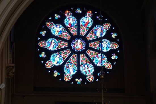 St Peter's Church: Rose window in transept