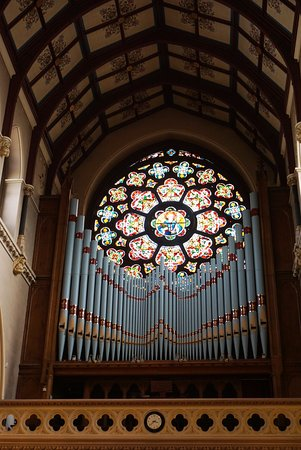 St Peter's Church: Organ and main rose window
